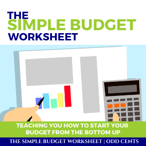 Odd Cents - The Simple Budget Worksheet - 300 x 300