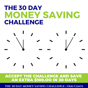 Odd Cents - The 30 Day Money Saving Challenge - 300 x 300